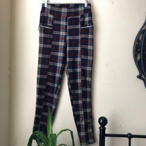 Pants - Fleece Lined Two Pocket Plaid Pants Fit Size S/M